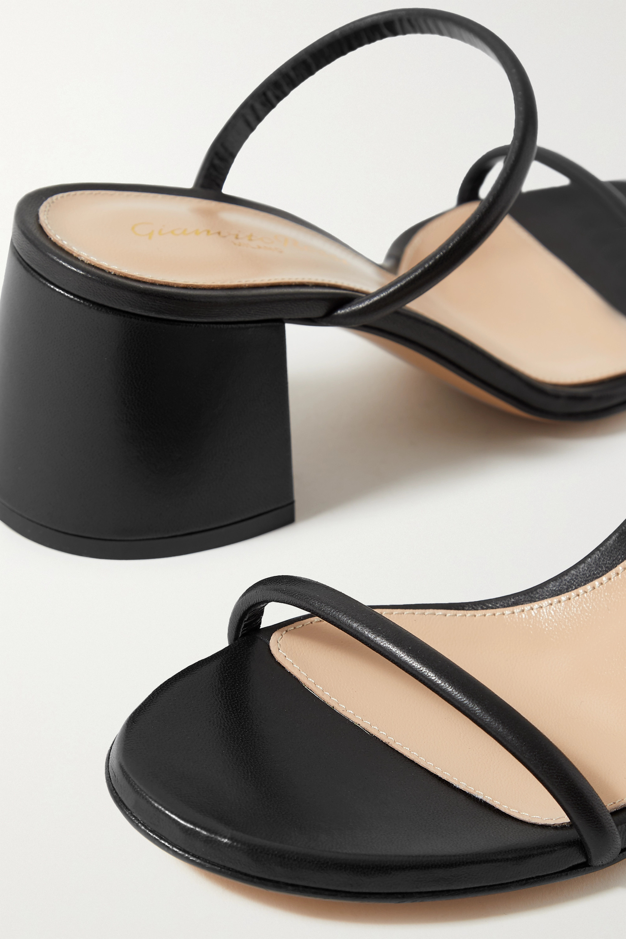 GIANVITO ROSSI Byblos 60 leather mules