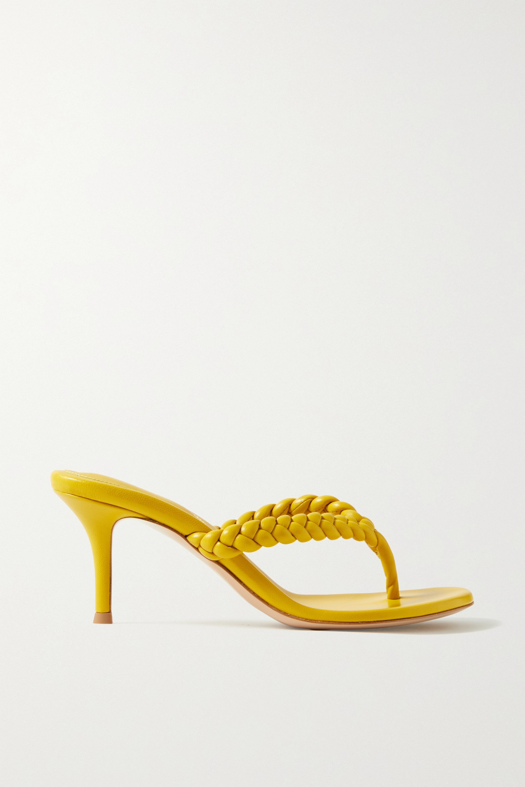 GIANVITO ROSSI Tropea 70 braided leather sandals