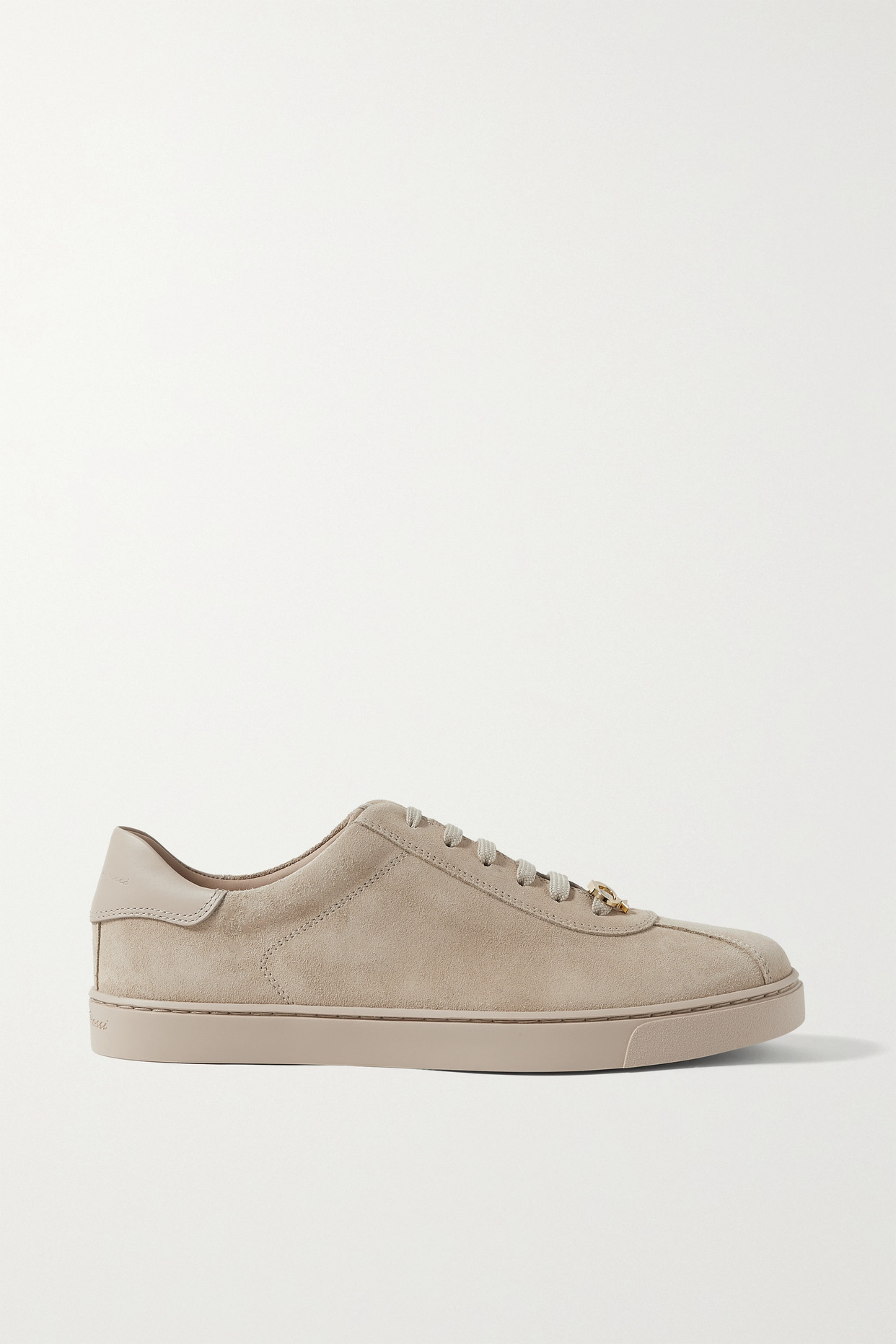 GIANVITO ROSSI - Leather-trimmed Suede Sneakers - Neutrals - IT38.5