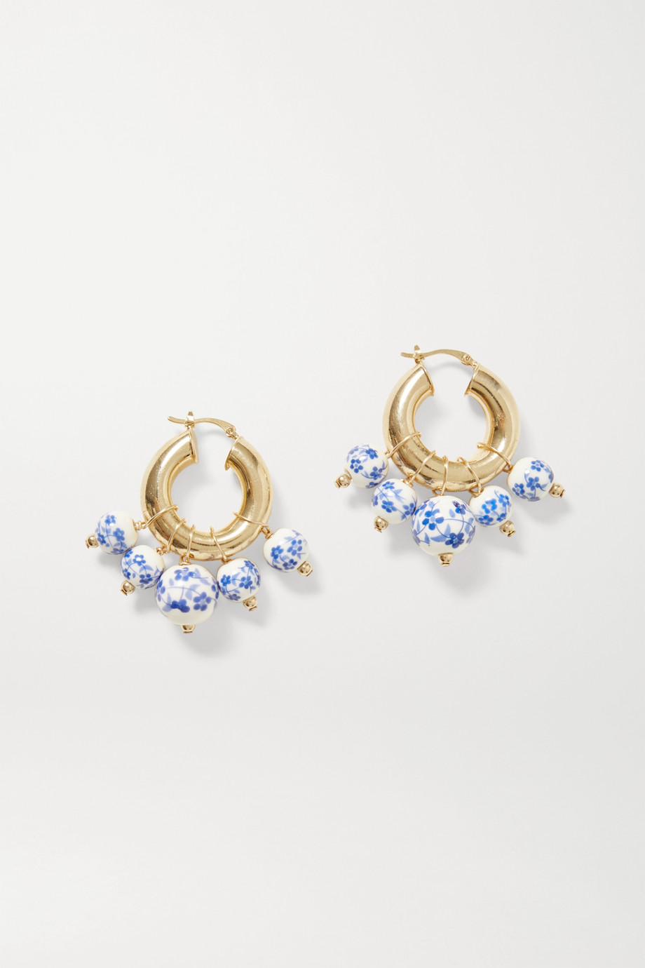 ÉLIOU Sandro gold-plated bead earrings