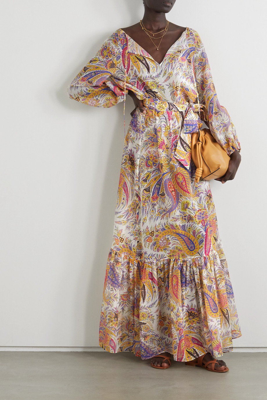 ETRO Mykonos paisley-print cotton and silk-blend chiffon blouse
