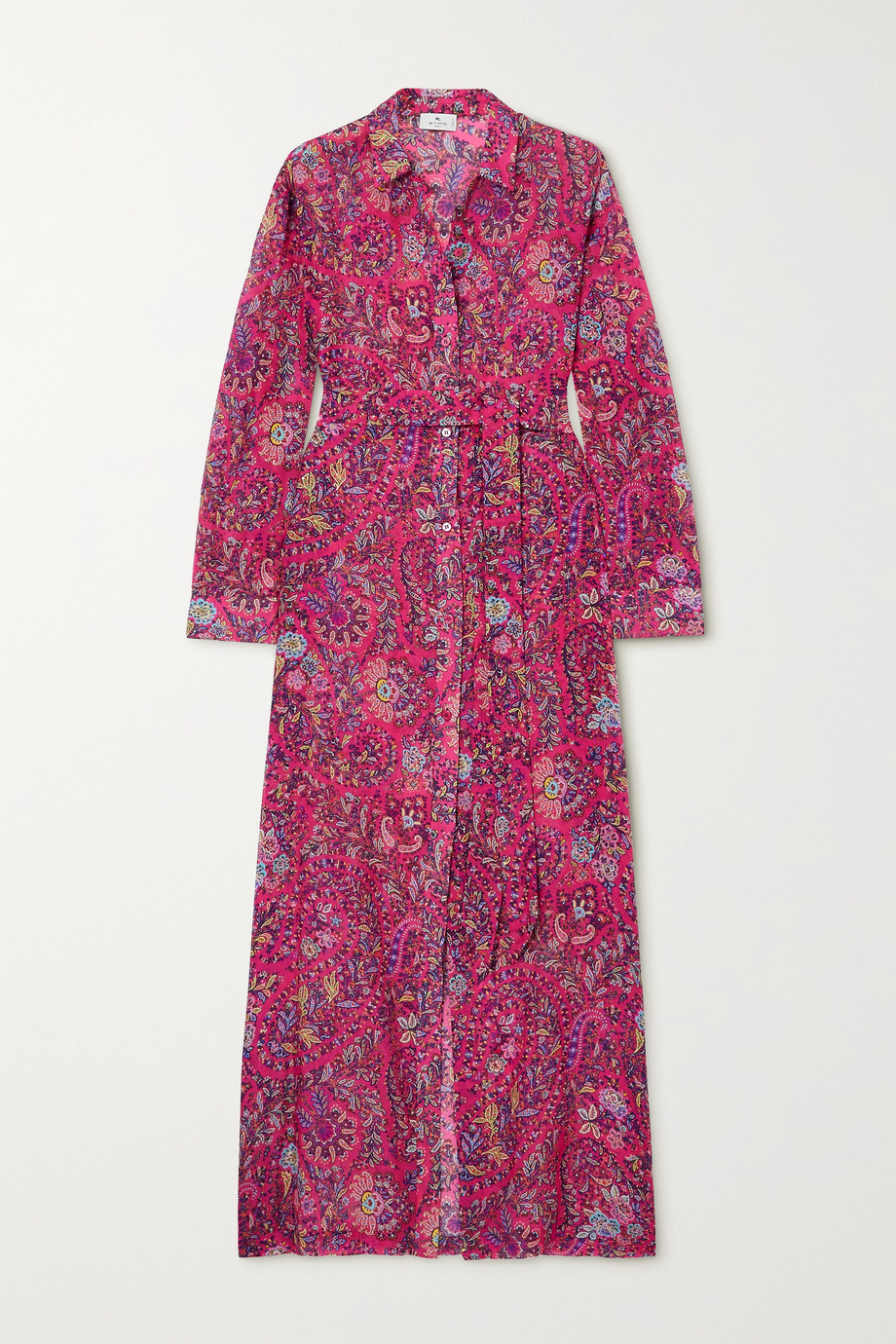ETRO Giannutri belted paisley-print cotton and silk-blend shirt dress