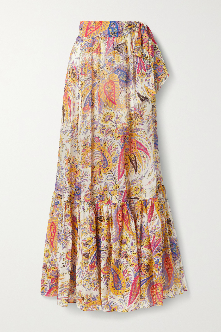ETRO Zante paisley-print cotton and silk-blend chiffon maxi skirt