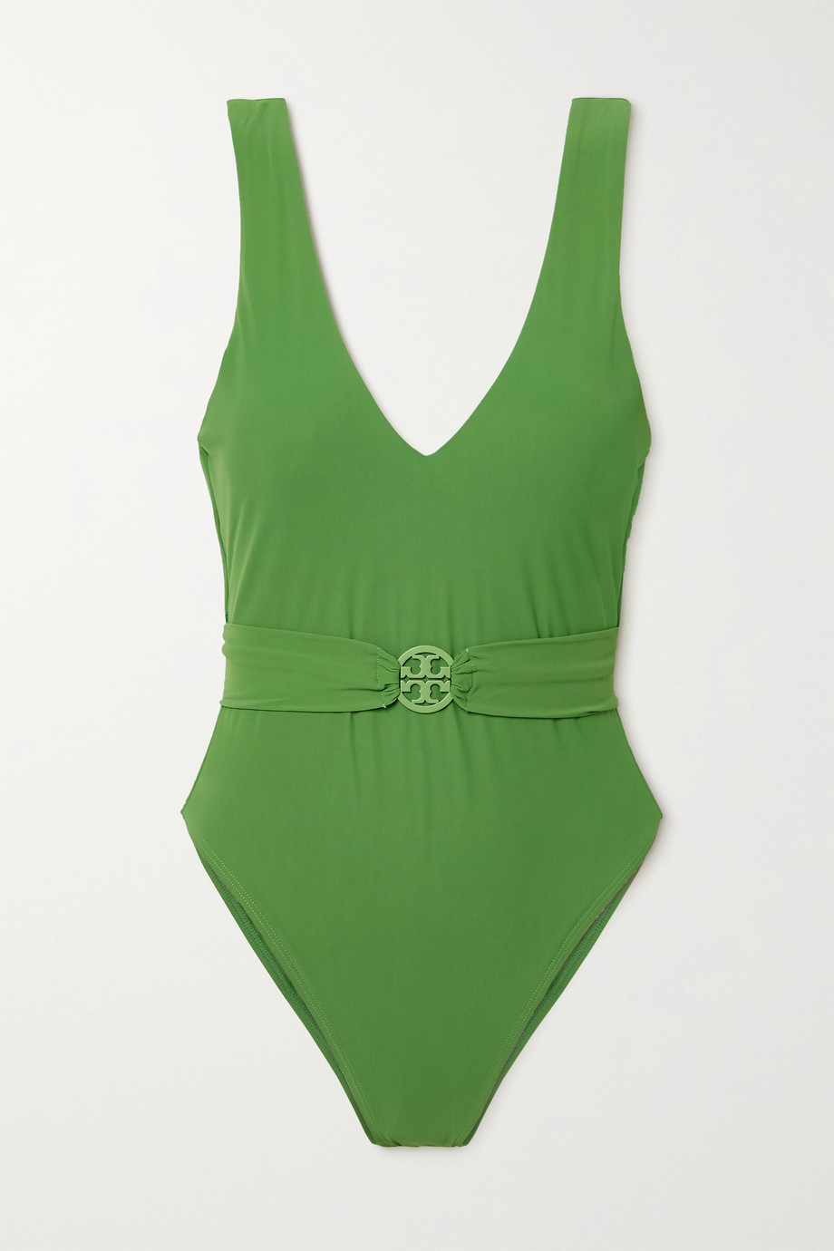TORY BURCH Miller belted swimsuit