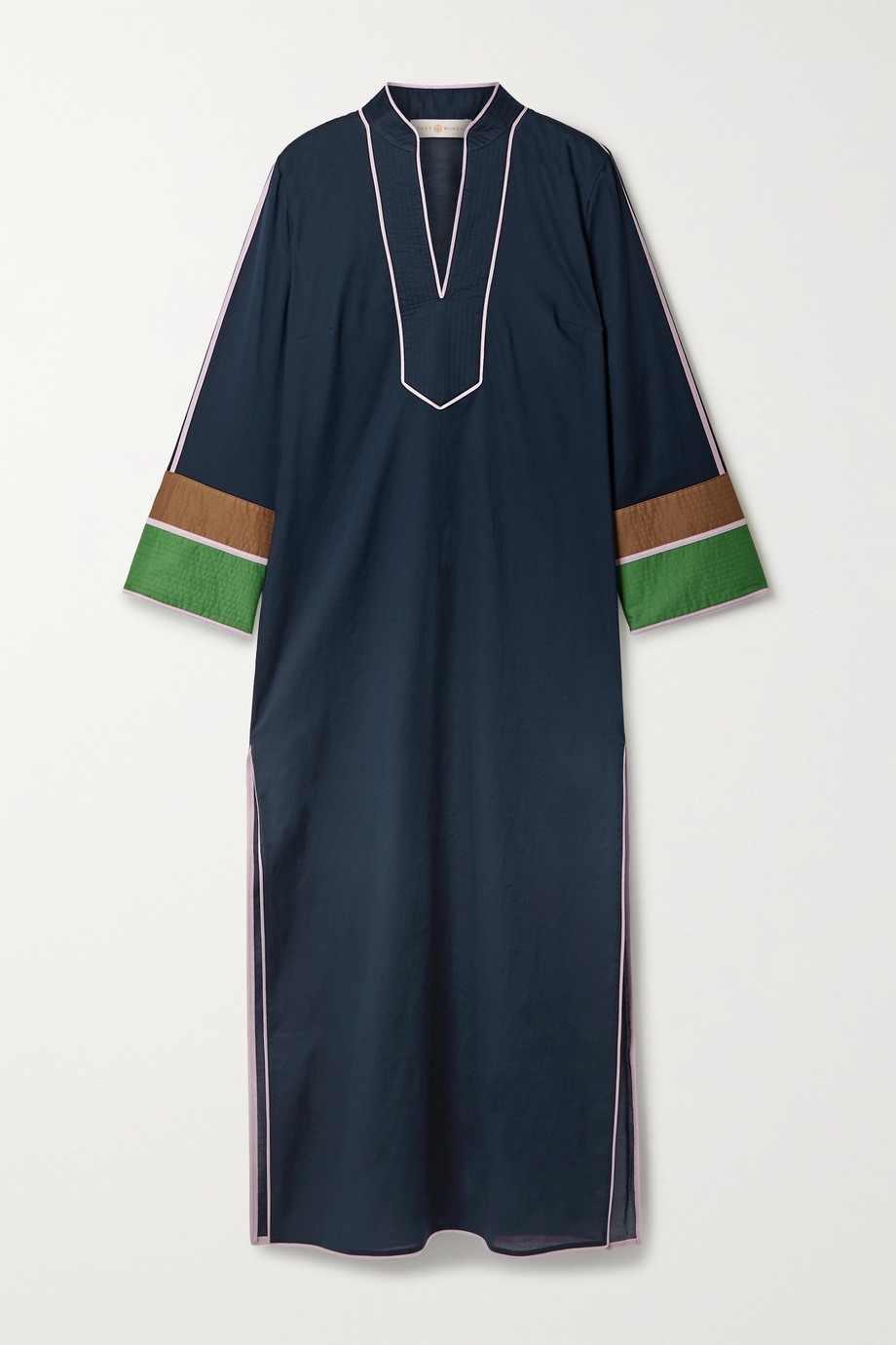 TORY BURCH Color-block cotton-voile kaftan