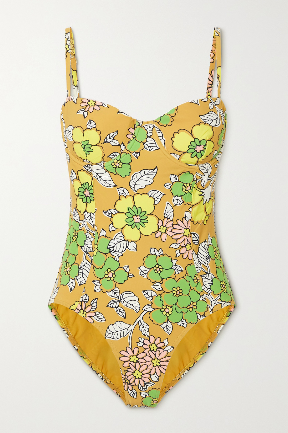 TORY BURCH Floral-print underwired swimsuit