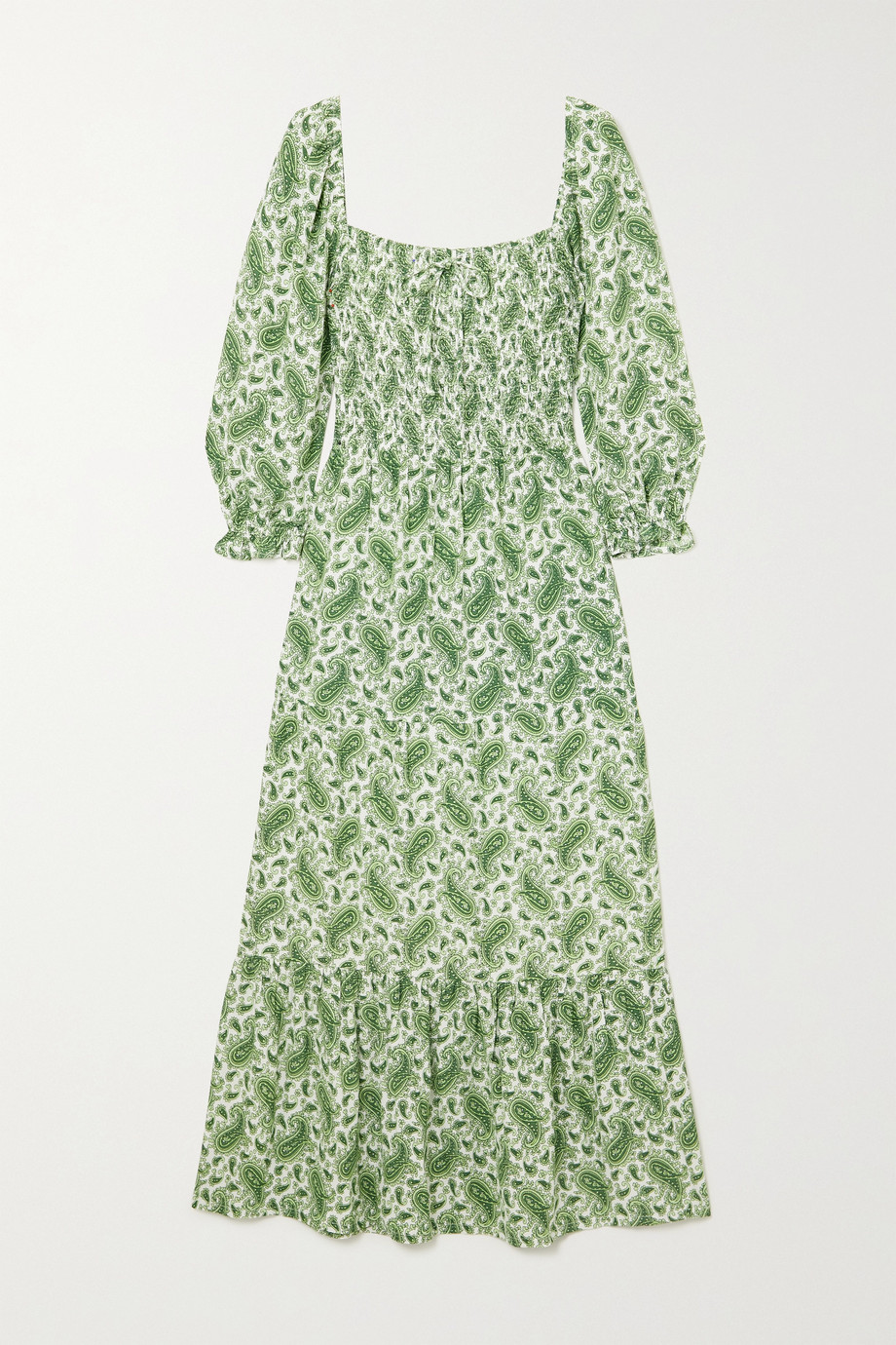 FAITHFULL THE BRAND + NET SUSTAIN Le Galet paisley-print crepe midi dress