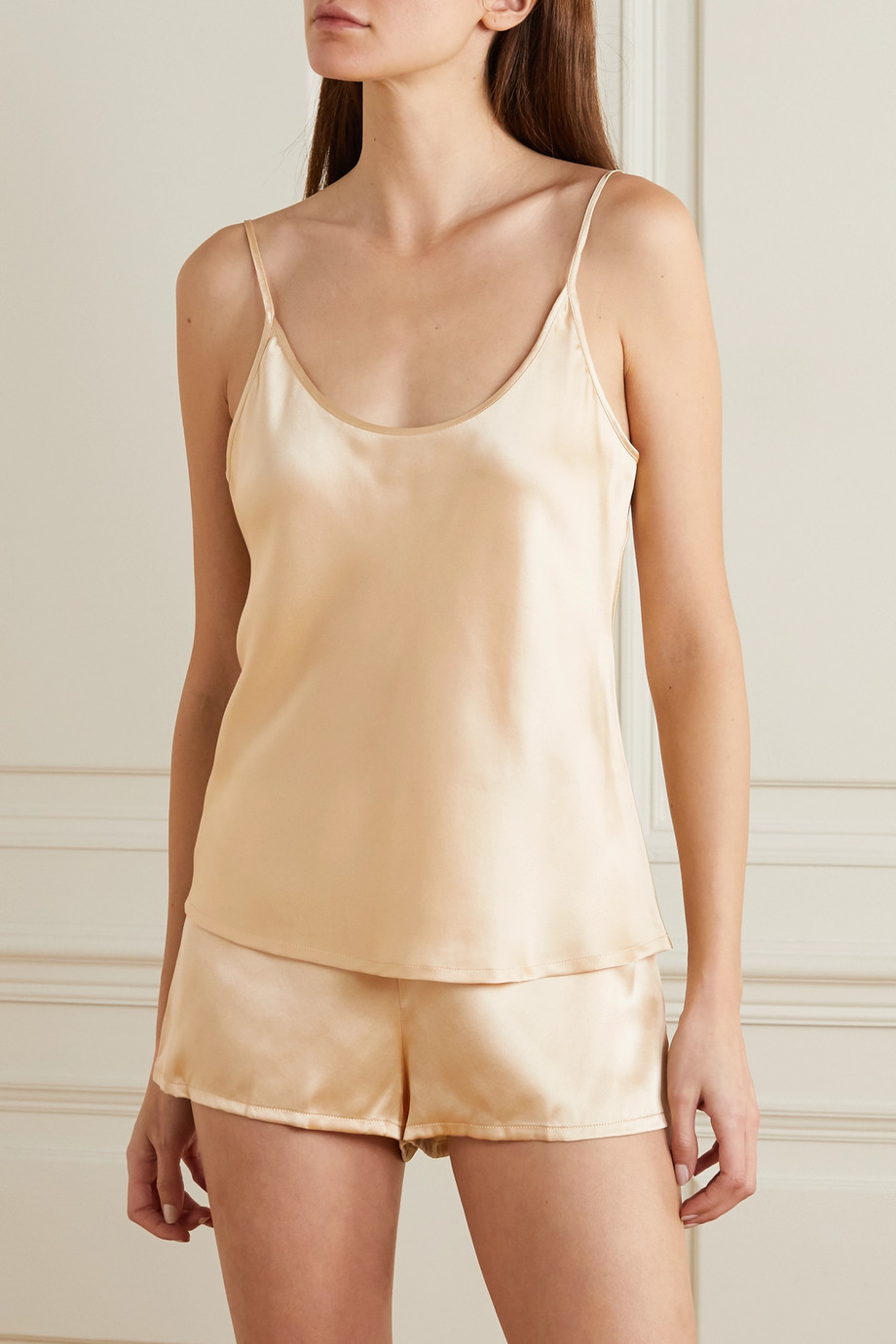 LA PERLA Silk-satin pajama set