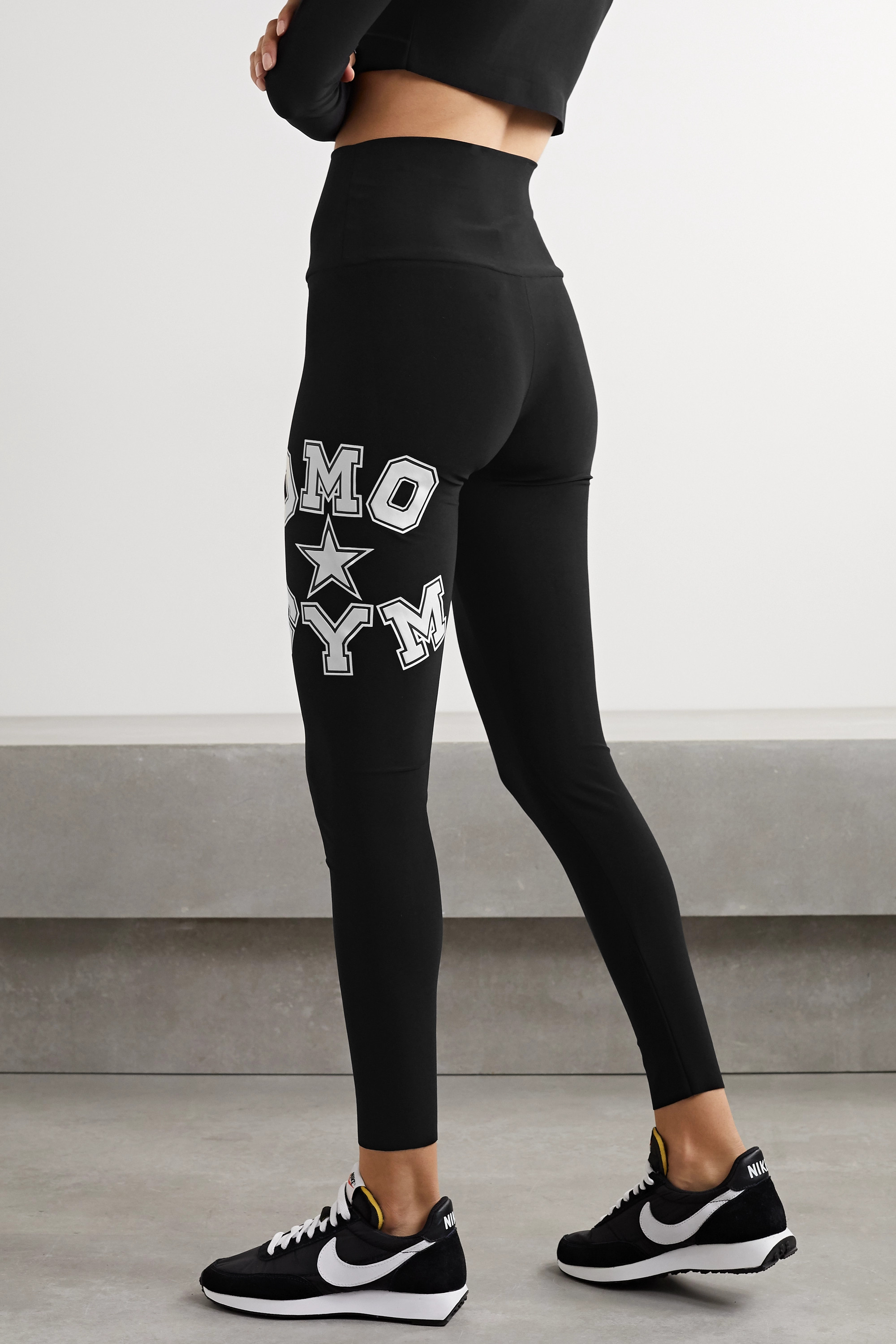 NORMA KAMALI OMO printed stretch-jersey leggings