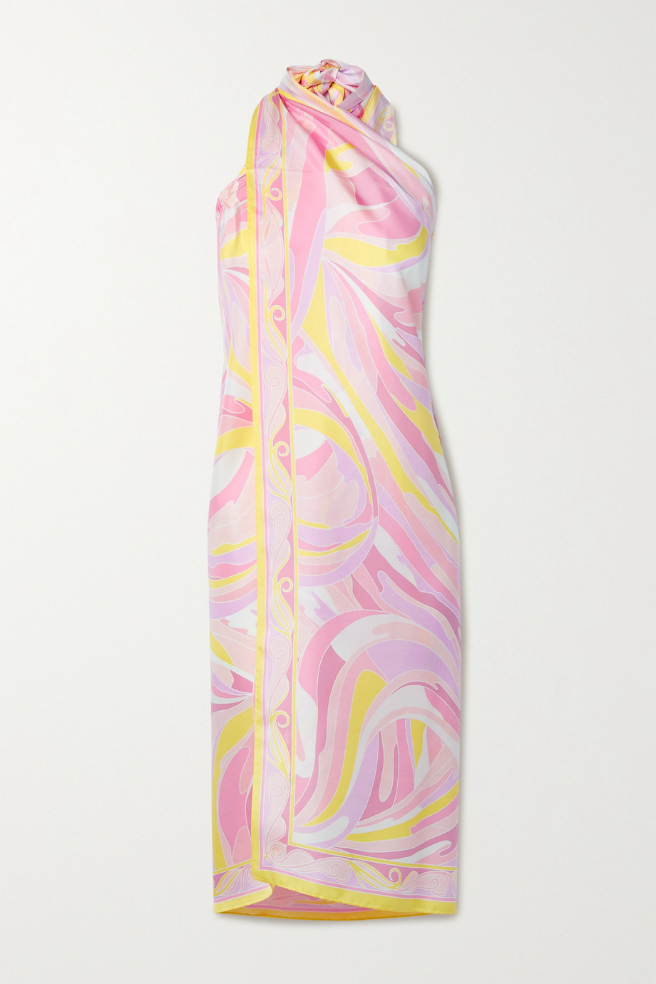 EMILIO PUCCI Printed silk-twill dress