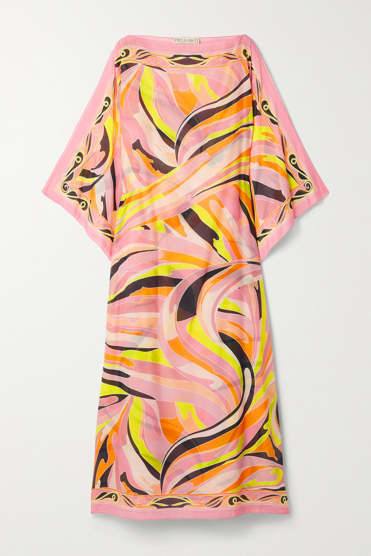 EMILIO PUCCI - + Net Sustain Printed Cotton And Silk-blend Voile Kaftan - Pink - One size