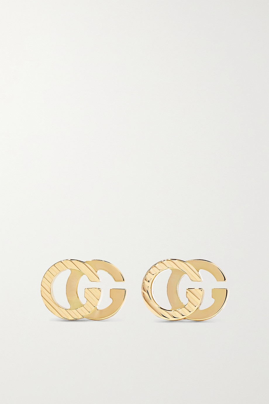 GUCCI GG Running 18-karat gold earrings