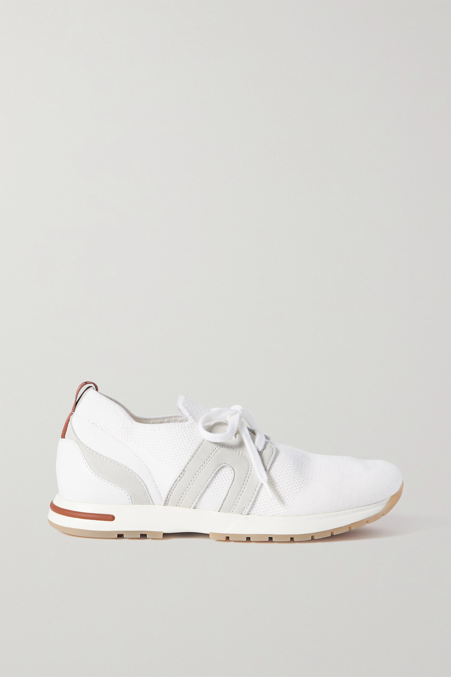 LORO PIANA Flexy Lady cashmere and suede sneakers