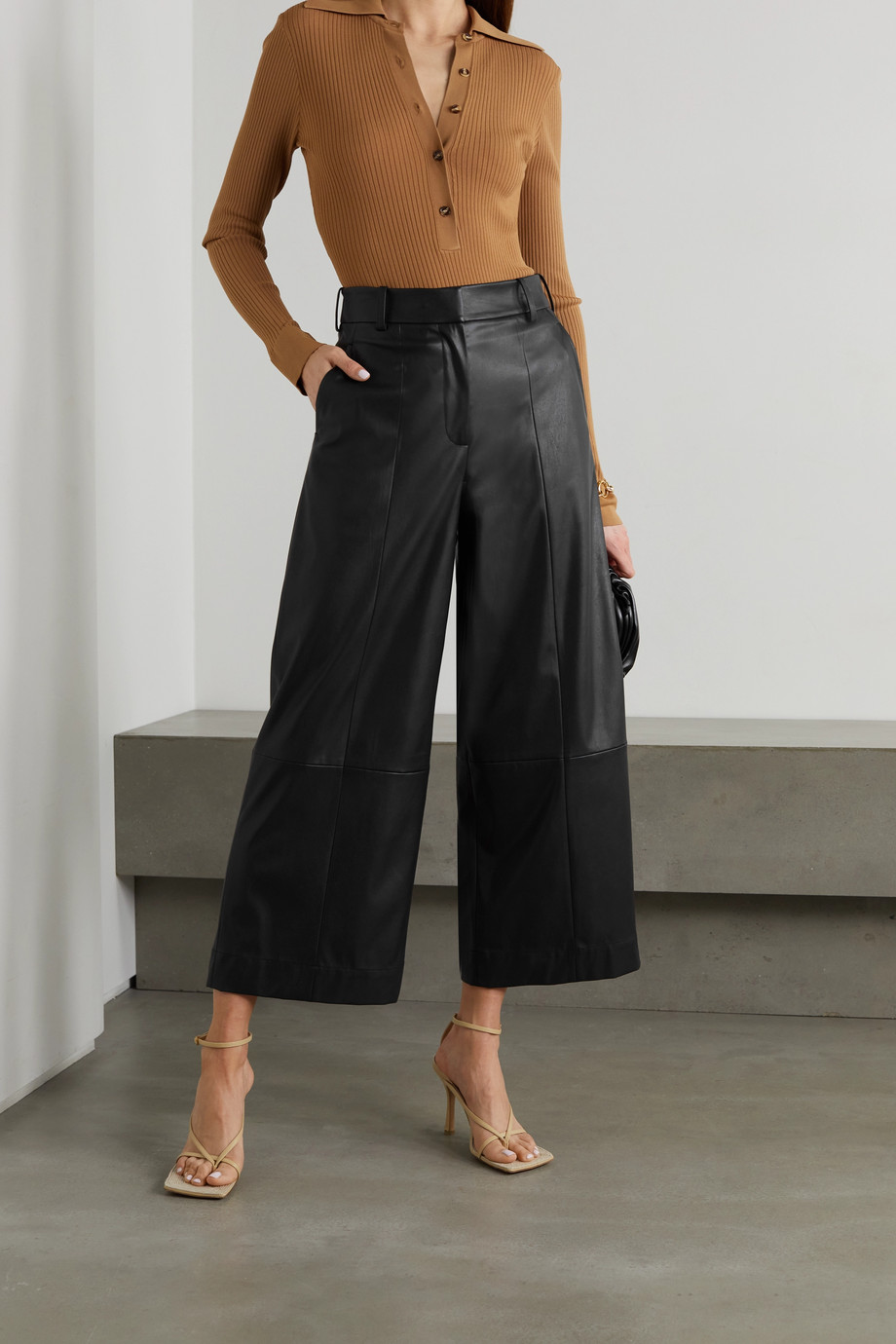 JASON WU Faux leather wide-leg pants