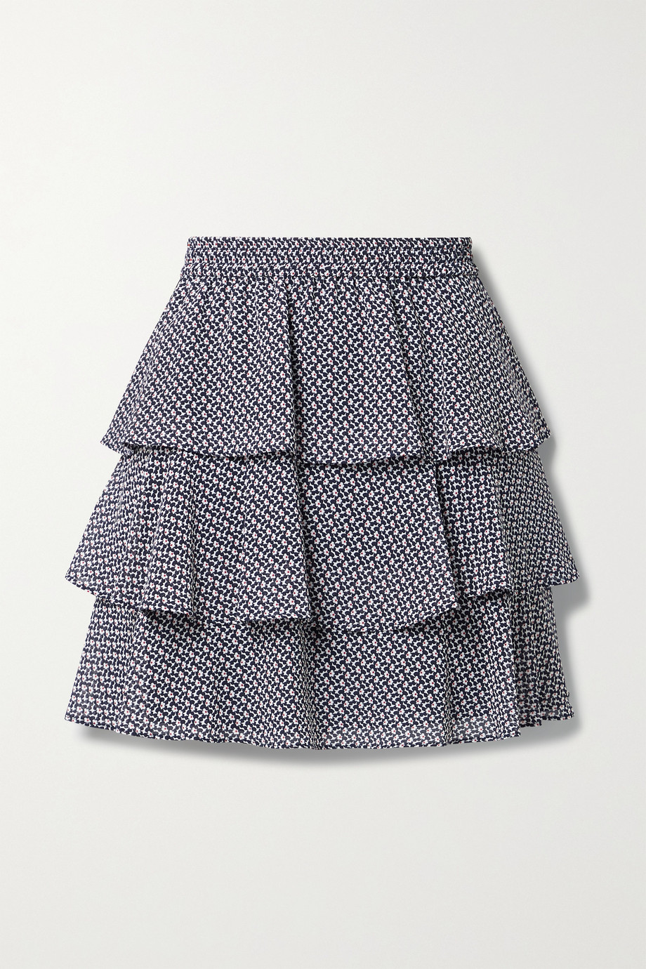 MICHAEL MICHAEL KORS Tiered ruffled floral-print crepe de chine mini skirt