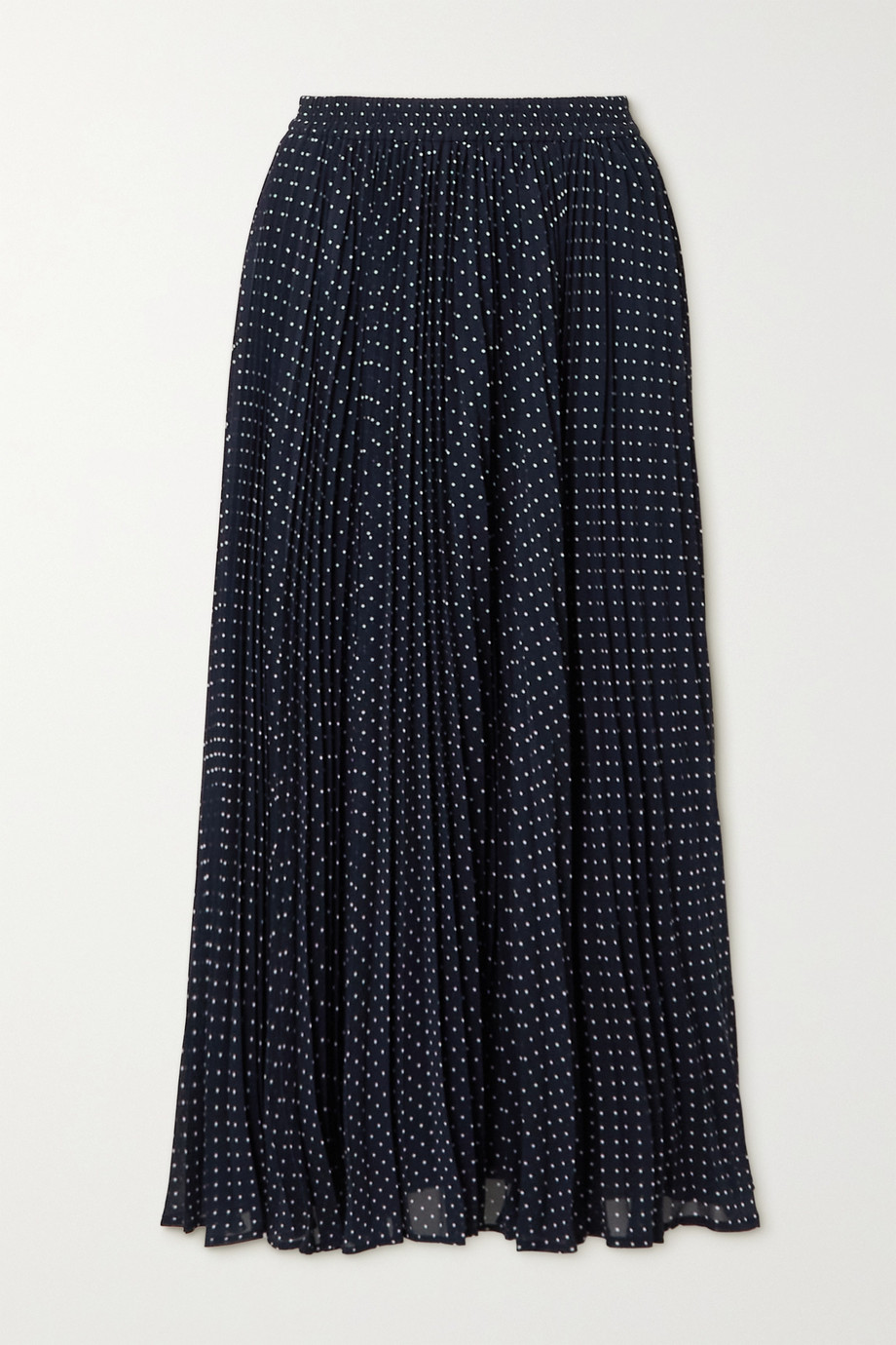 MICHAEL MICHAEL KORS Pleated polka-dot georgette midi skirt