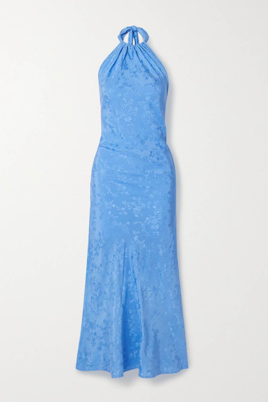 THE LINE BY K Belle satin-jacquard halterneck maxi dress