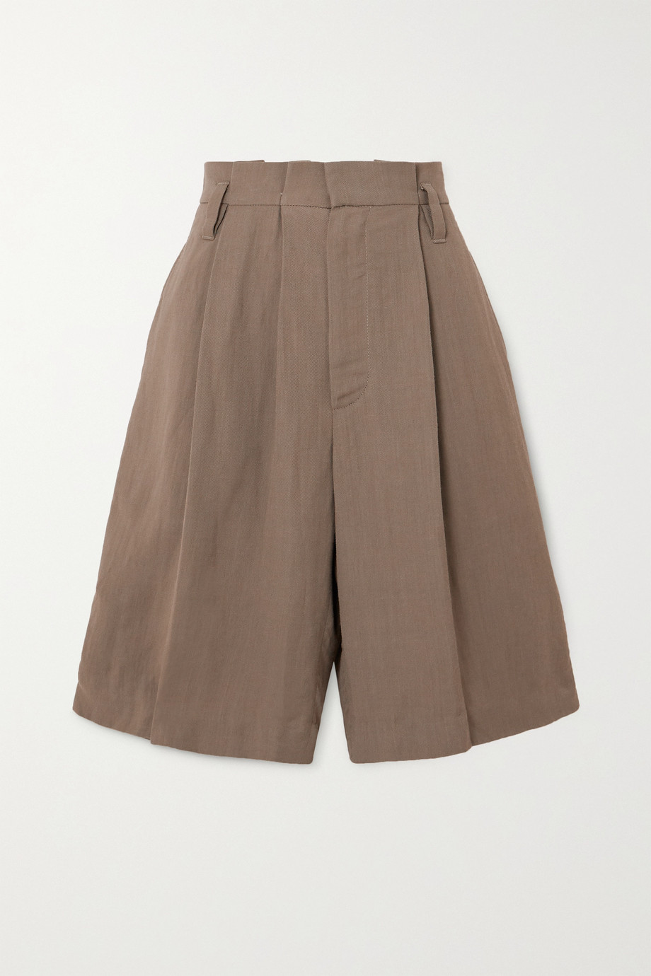 Brunello Cucinelli + Space for Giants pleated twill shorts