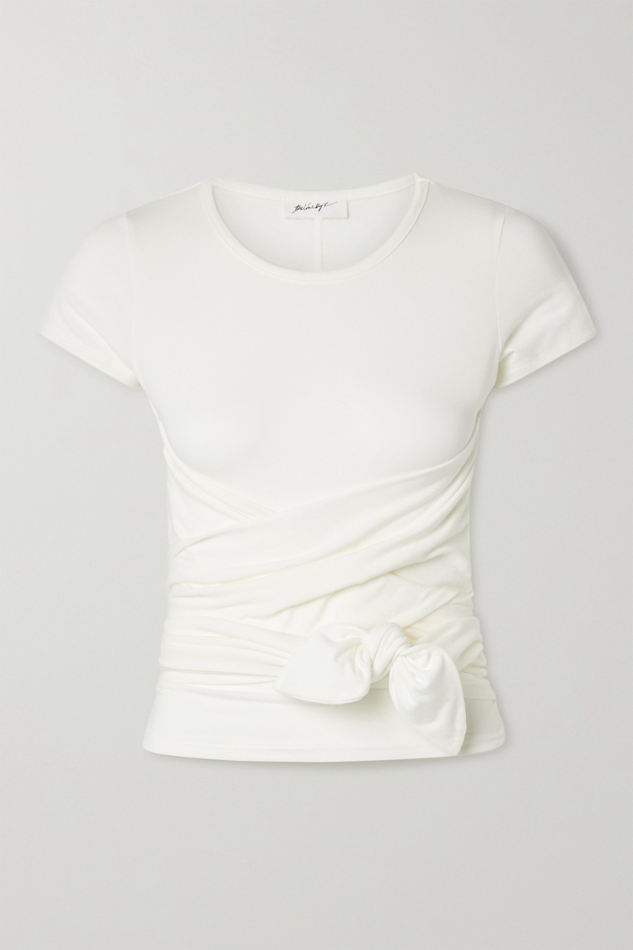 THE LINE BY K Jeanne knotted stretch-cotton jersey T-shirt