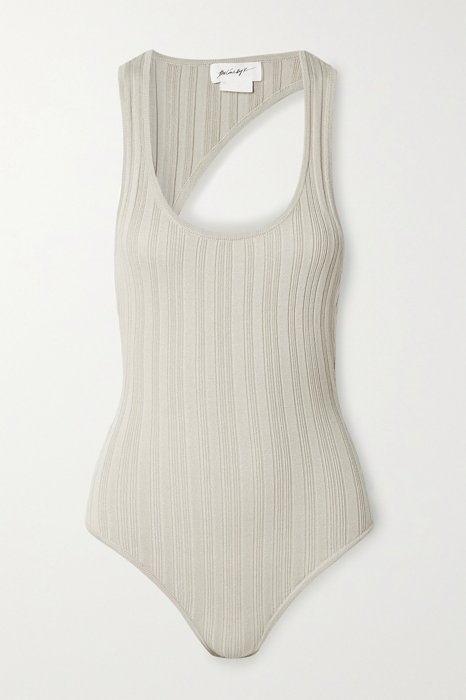 THE LINE BY K Isaura open-back ribbed-knit bodysuit