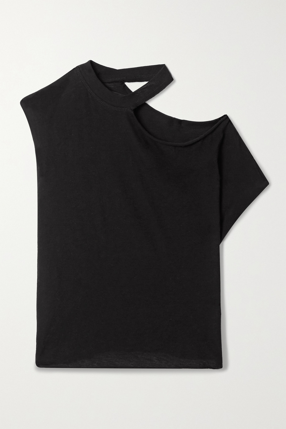 RTA Axel cutout cotton and cashmere-blend jersey top