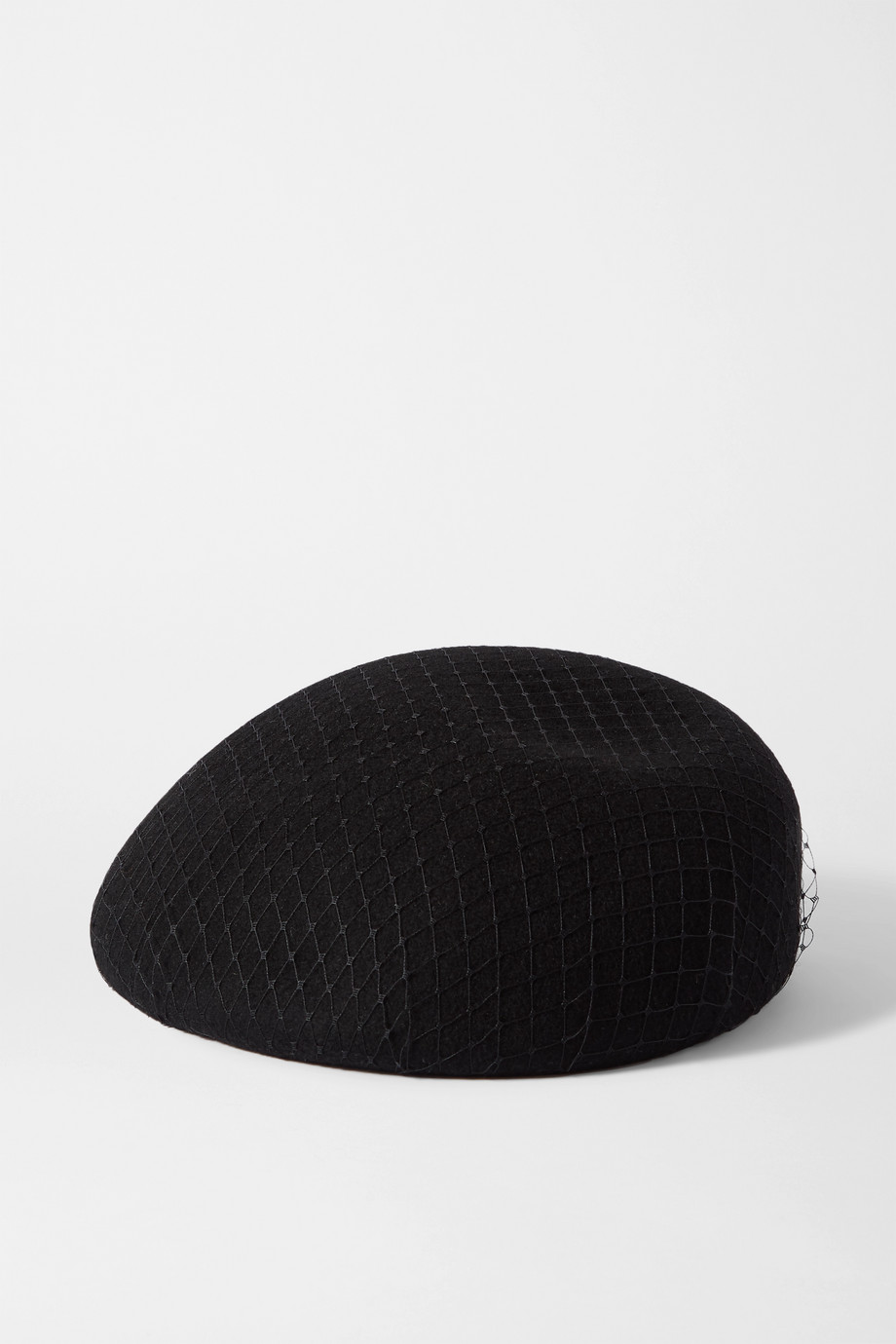 EUGENIA KIM Coco wool-felt and mesh beret