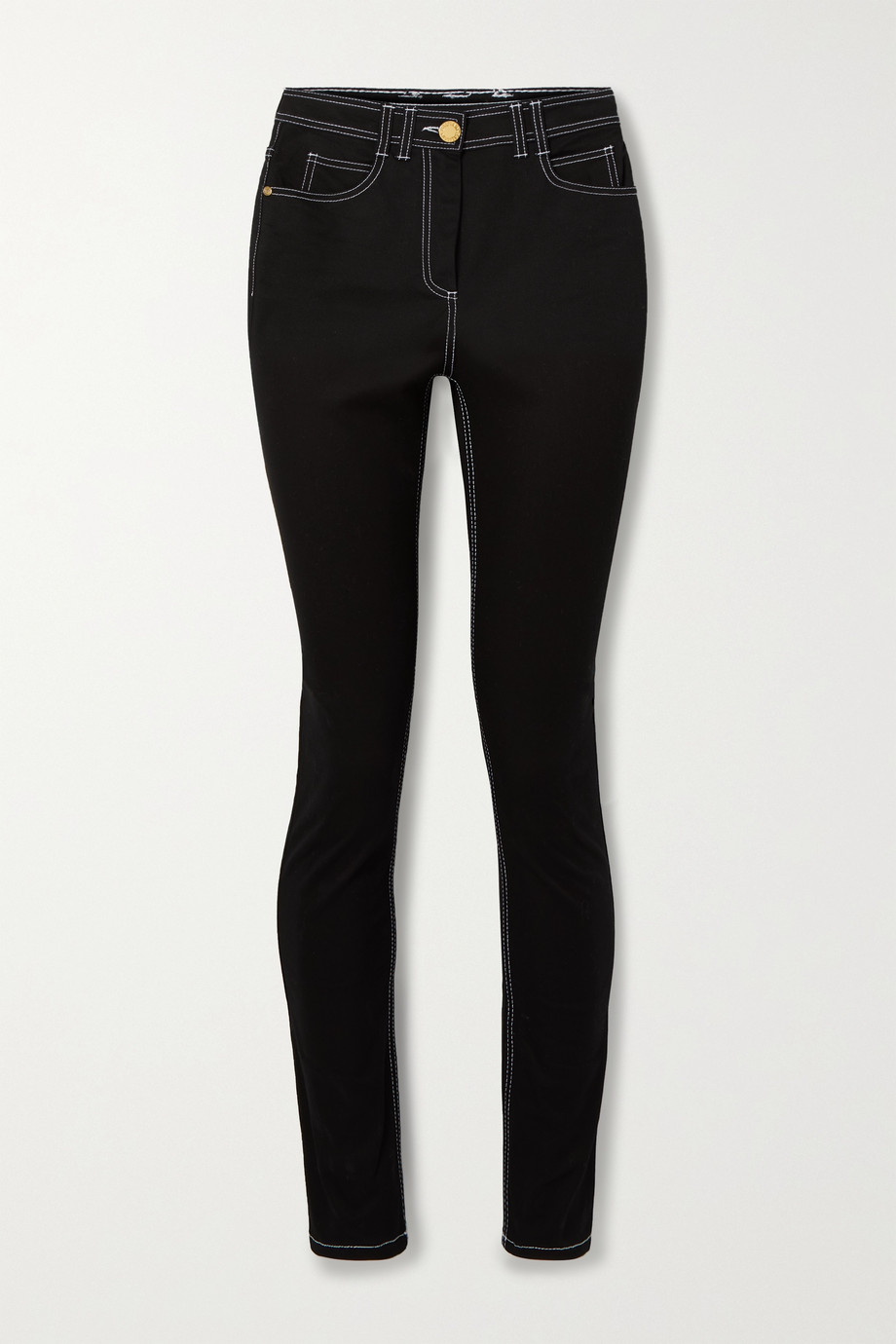 BALMAIN Embroidered high-rise skinny jeans