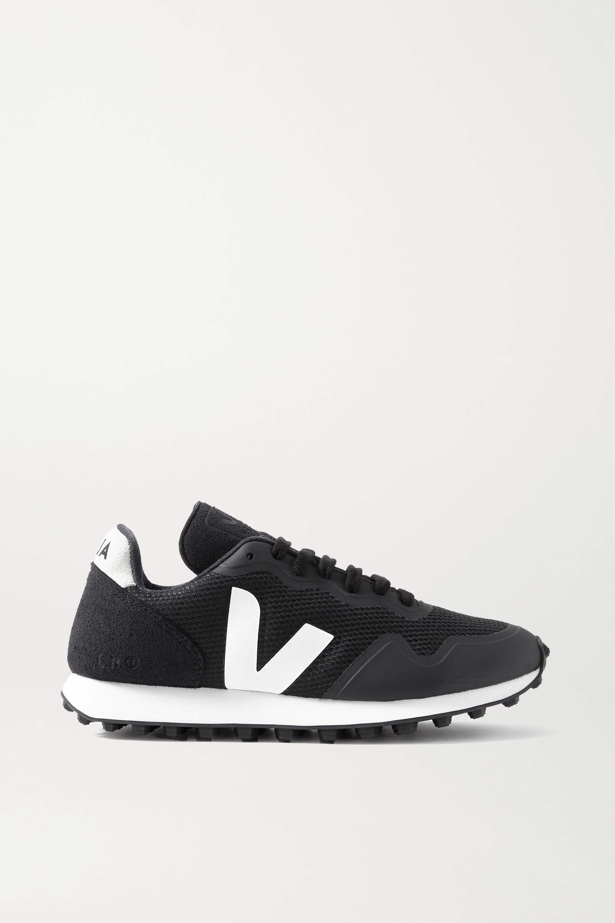 VEJA + NET SUSTAIN SDU RT rubber-trimmed vegan suede and mesh sneakers