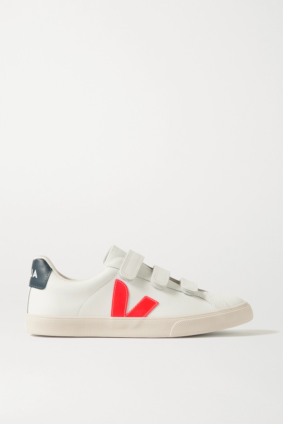 VEJA + NET SUSTAIN 3-Lock Logo rubber-trimmed leather sneakers