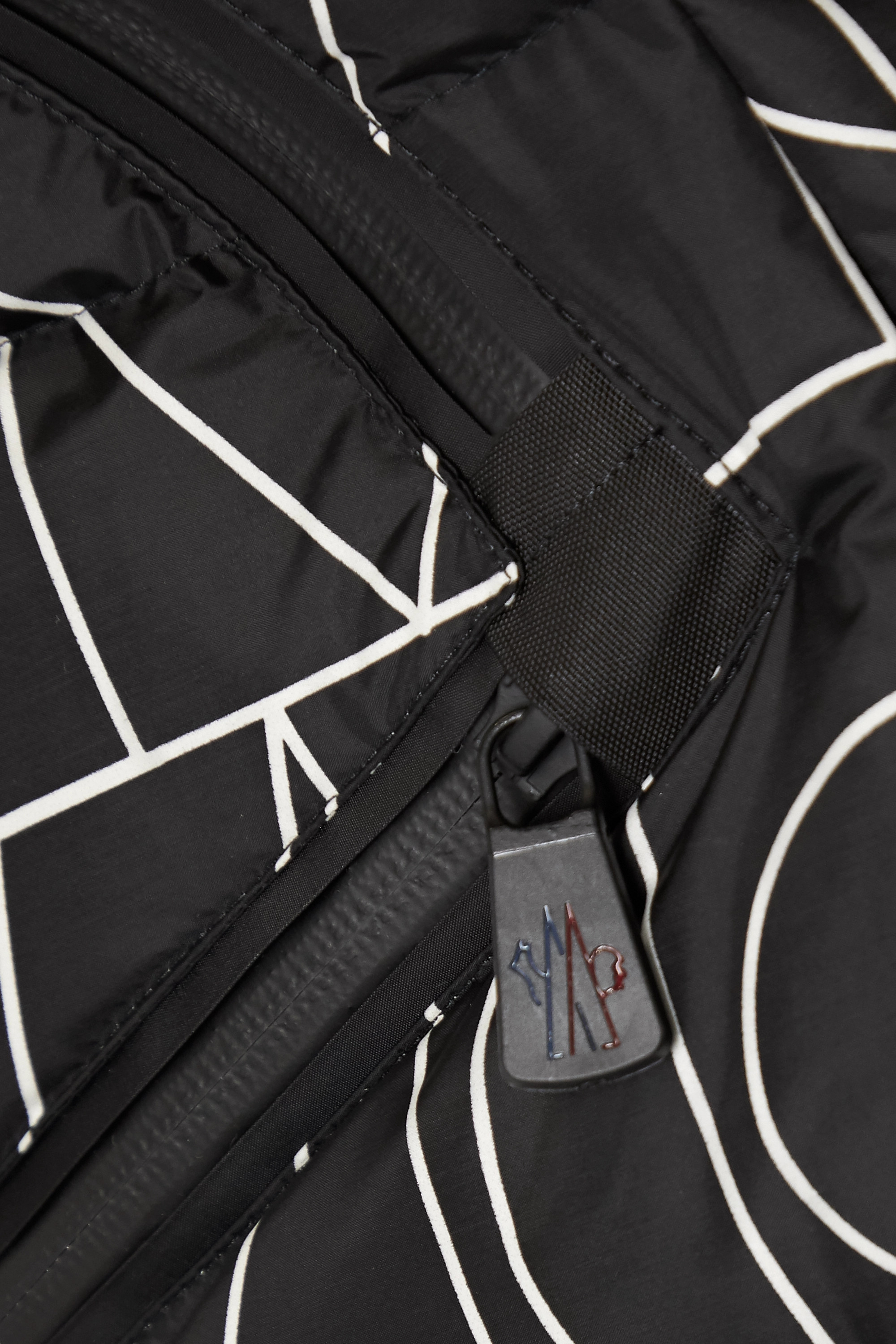 MONCLER GRENOBLE Dixence printed quilted down ski jacket