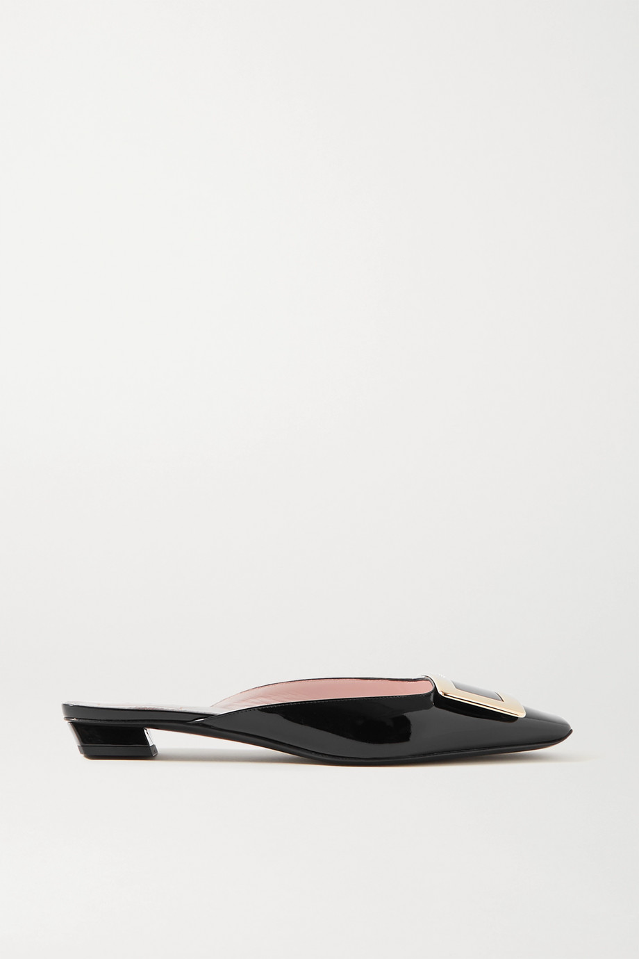 ROGER VIVIER Belle Vivier patent-leather mules