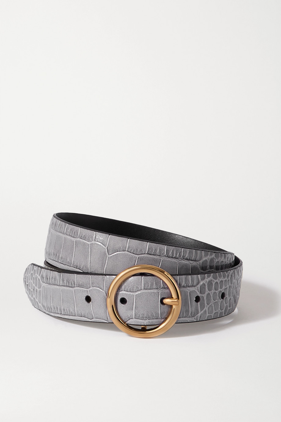 ANDERSON'S Croc-effect leather belt