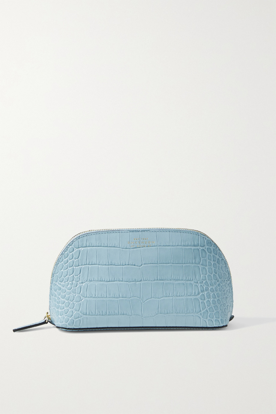 SMYTHSON Mara croc-effect leather cosmetics case