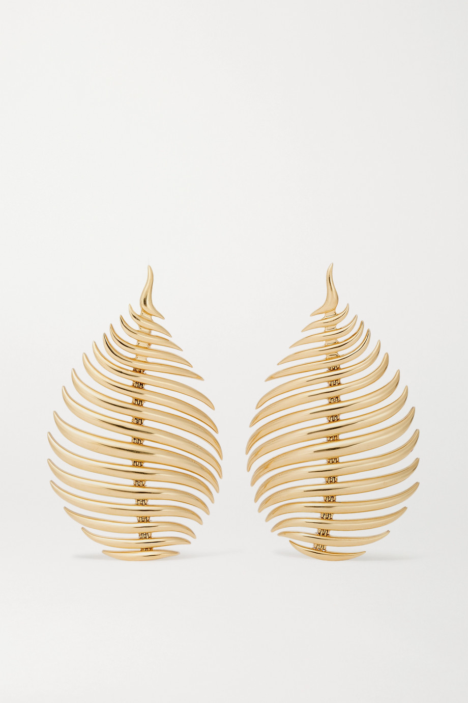 FERNANDO JORGE Flame 18-karat gold earrings