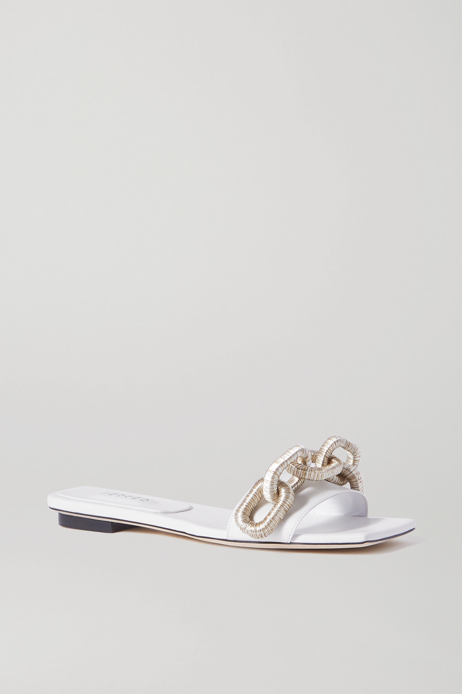 Serena Uziyel Catena embellished leather slides
