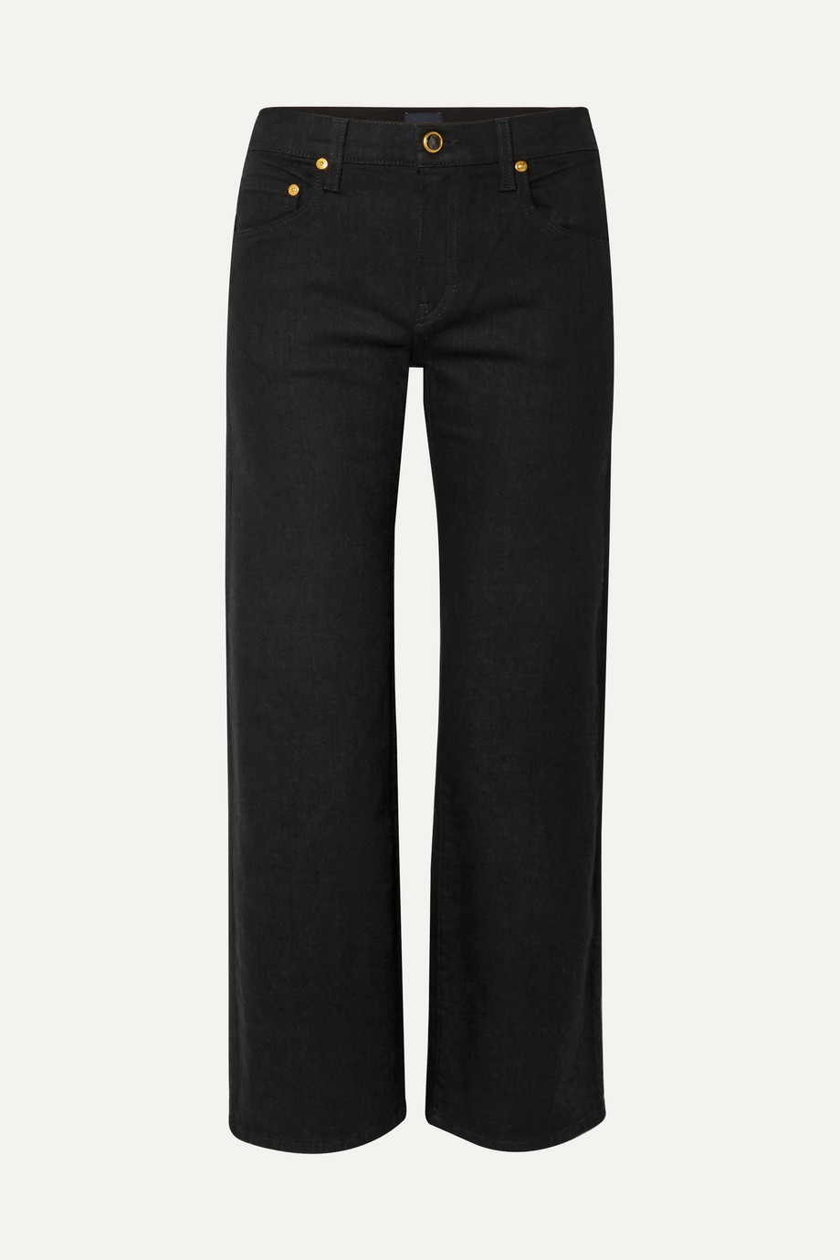 KHAITE Wendell cropped high-rise wide-leg jeans