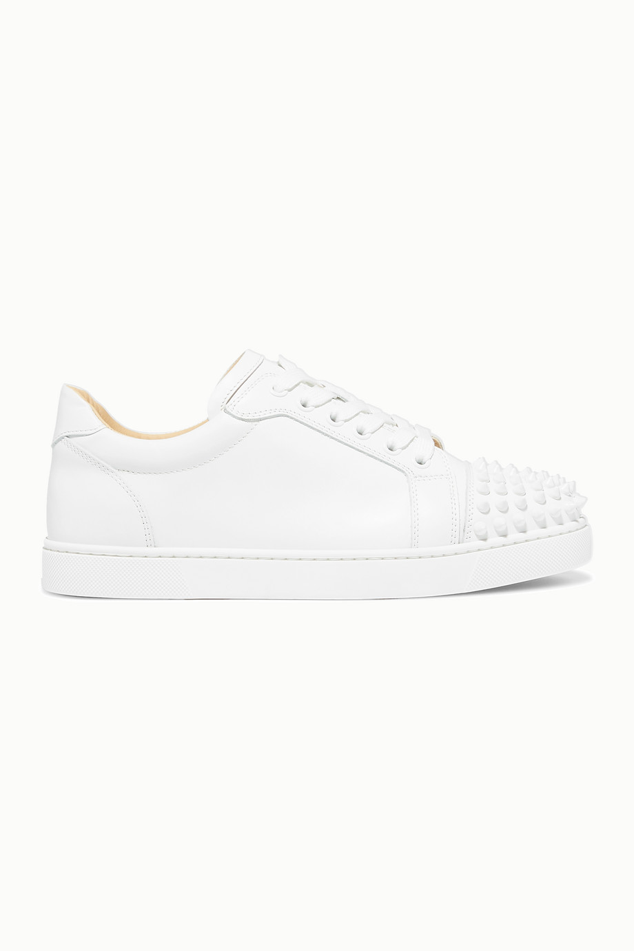 CHRISTIAN LOUBOUTIN Viera Spikes embellished leather sneakers