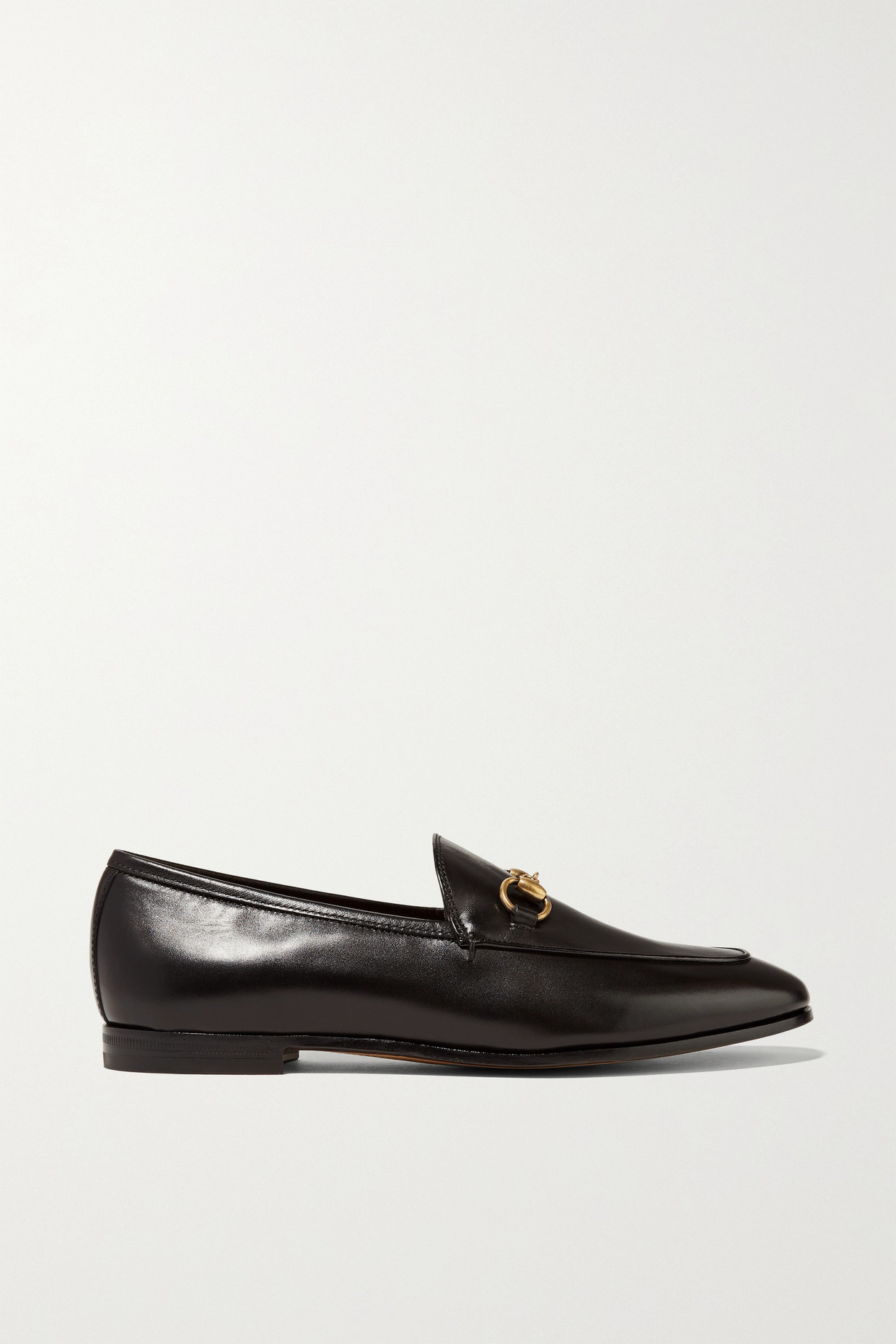 GUCCI - Jordaan Horsebit-detailed Leather Loafers - Black - IT42