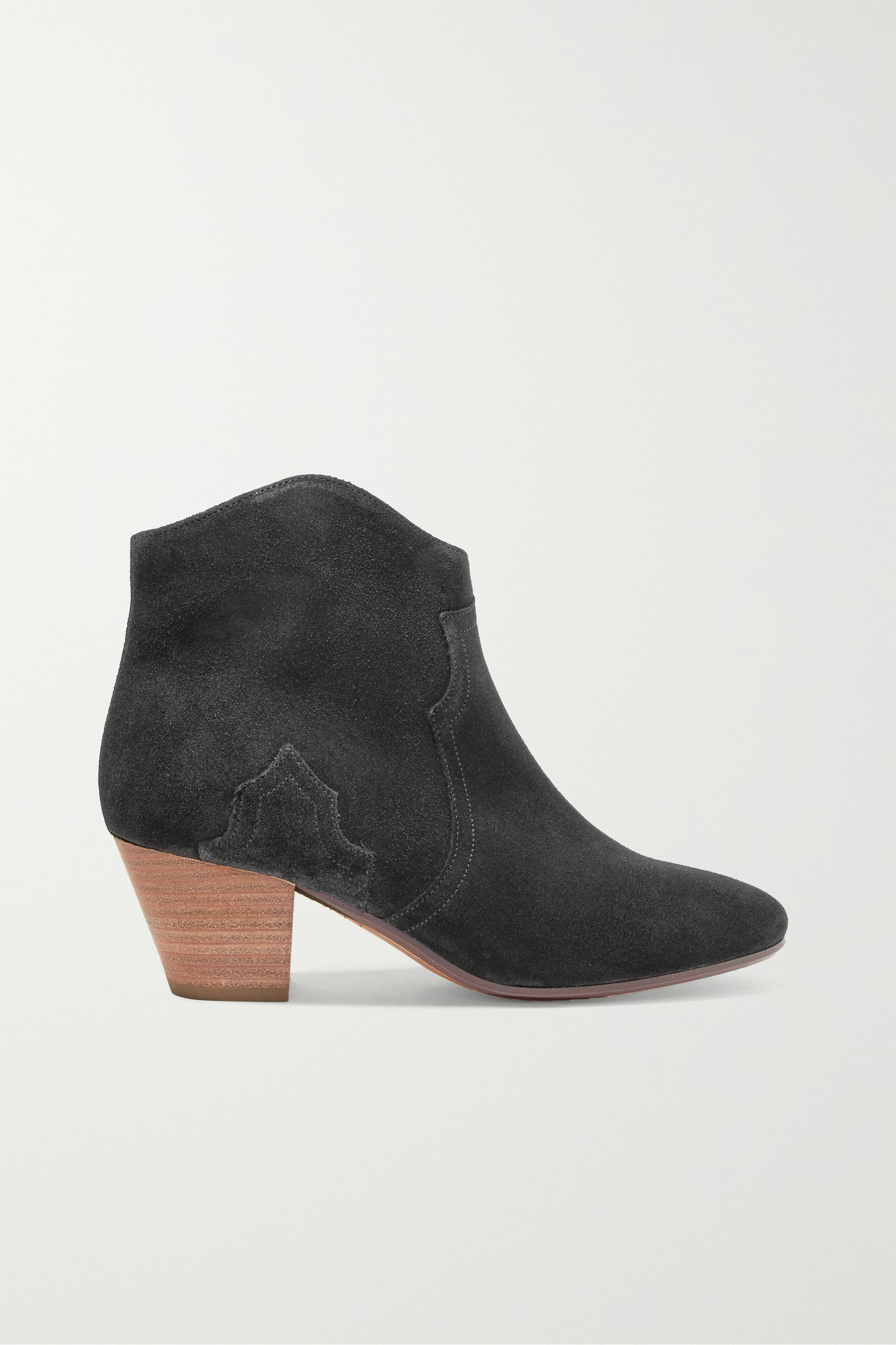 ISABEL MARANT - Étoile The Dicker 绒面革踝靴 - 黑色 - FR40