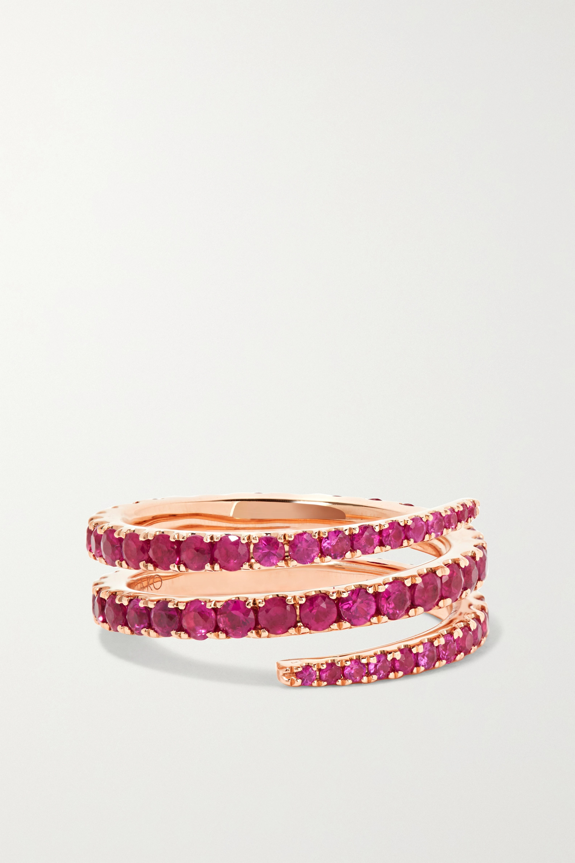 ANITA KO 18-karat rose gold ruby ring