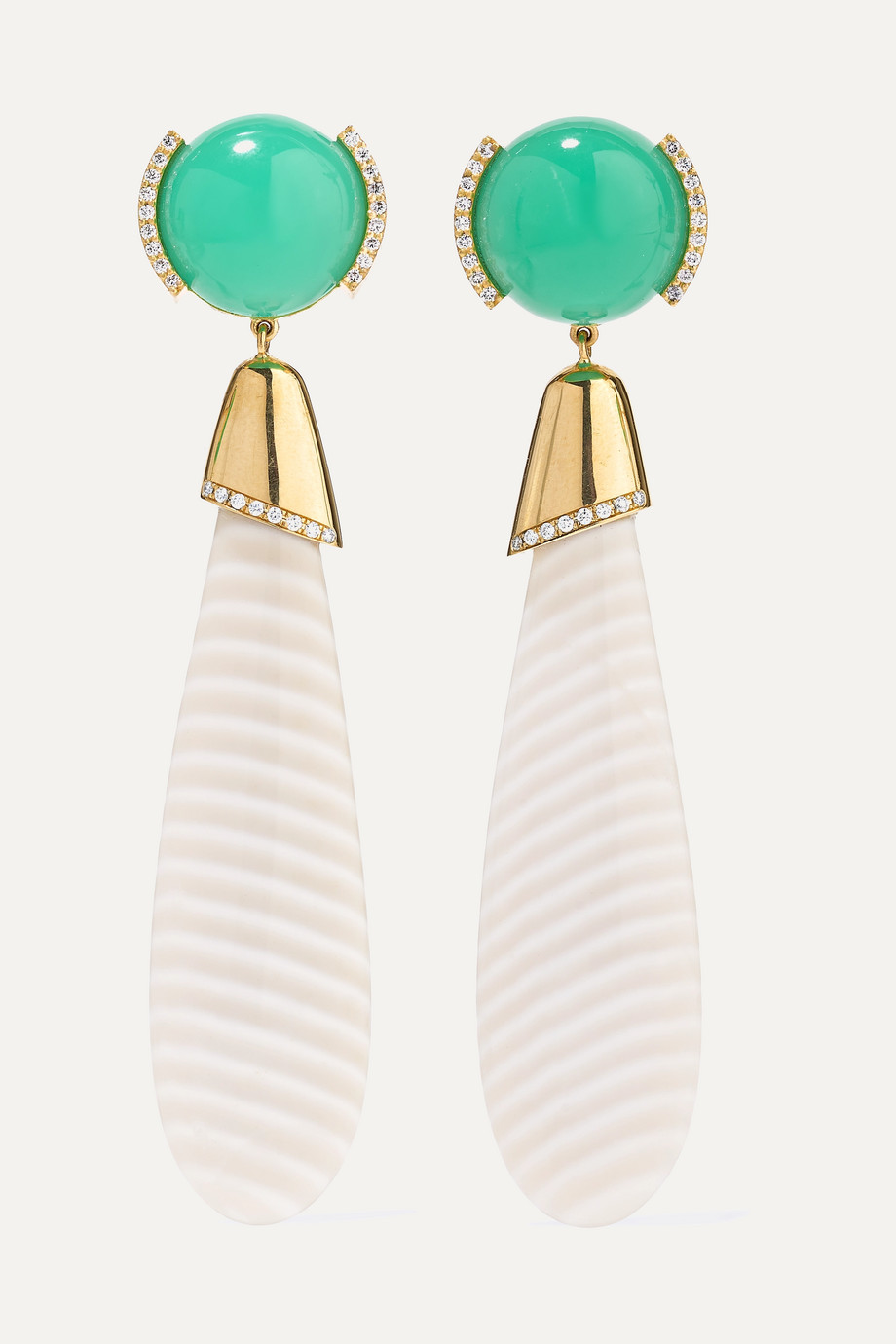 Guita M 18-karat gold multi-stone earrings