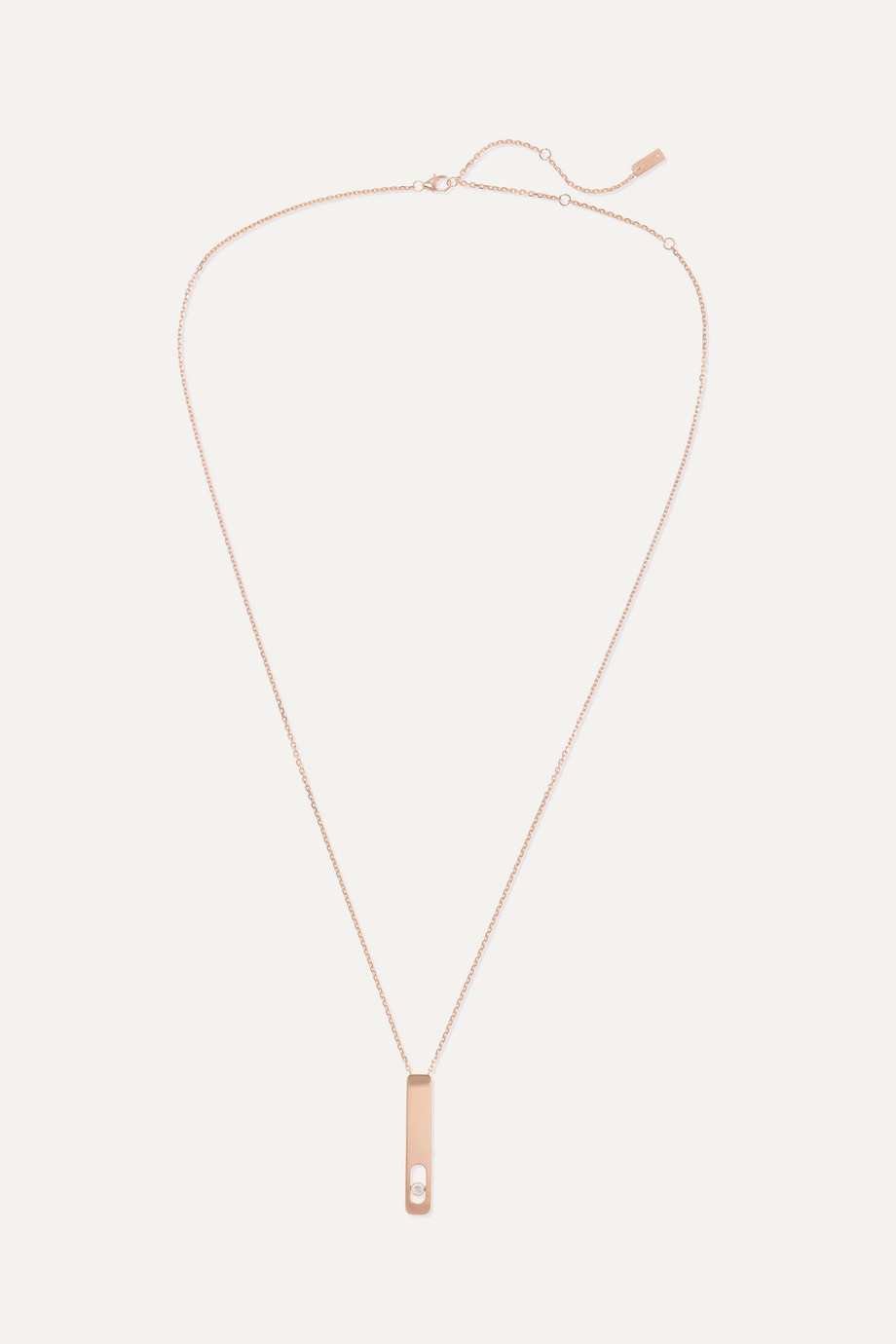 MESSIKA My First Diamond 18-karat rose gold diamond necklace