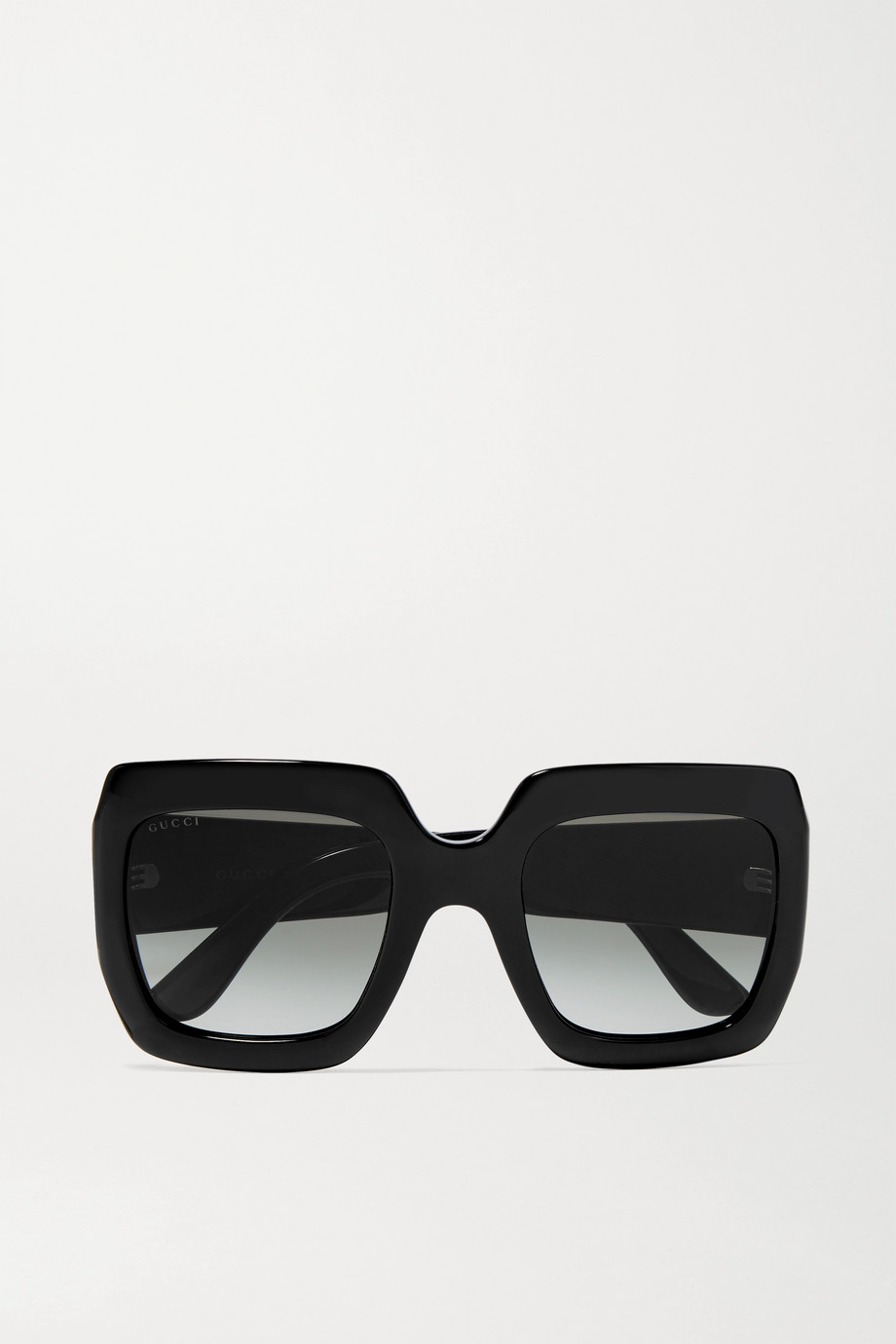 GUCCI Pop Web oversized square-frame acetate sunglasses