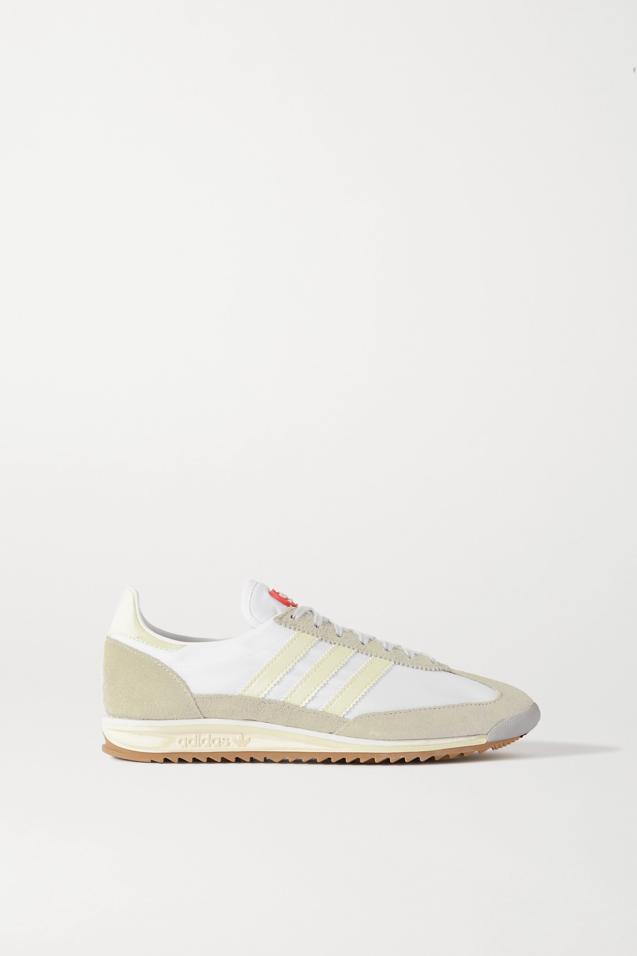 ADIDAS ORIGINALS - + Lotta Volkova Sl 72 Shell, Leather And Suede Sneakers - White - UK5