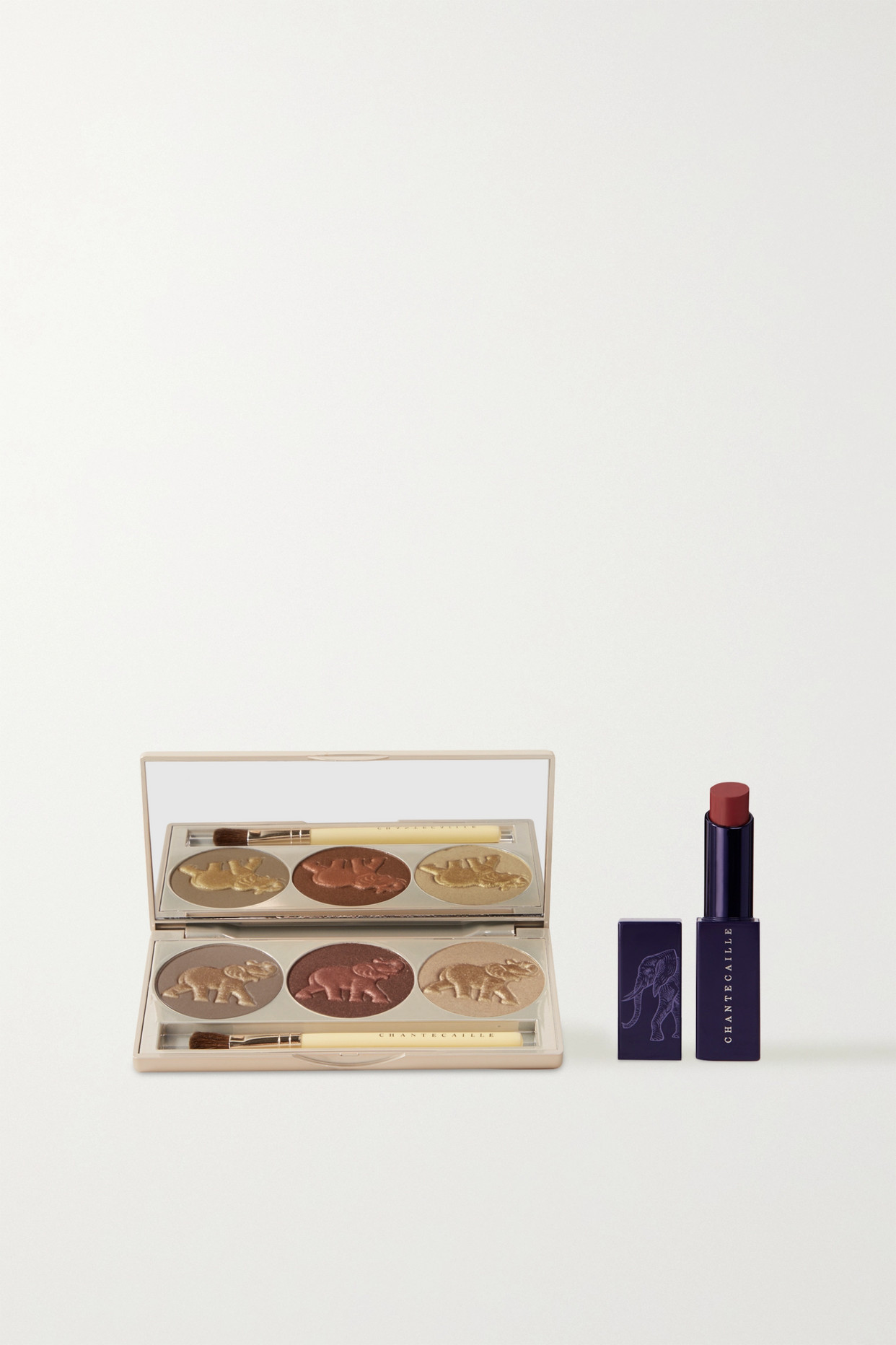"""CHANTECAILLE - X Space For Giants """"walk For Giants"""" 大象保育系列闪烁光彩三色眼影唇膏套装 - 无色 - one size"""
