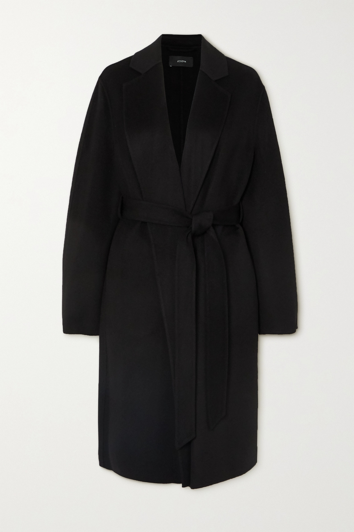 JOSEPH - Cenda 配腰带羊毛羊绒混纺外套 - 黑色 - FR40