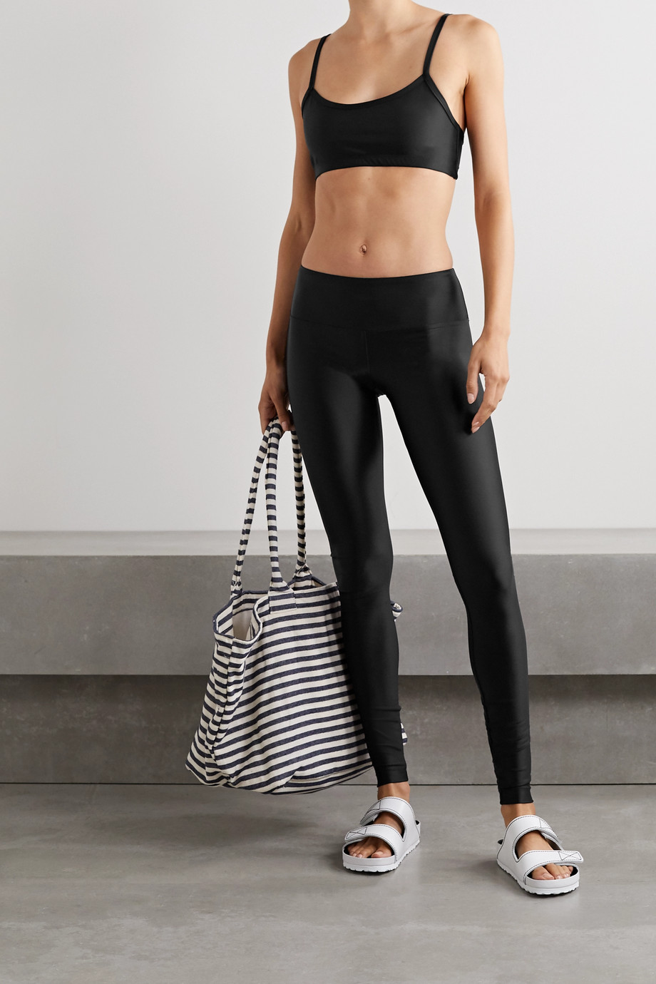 COVER + NET SUSTAIN stretch recycled swim leggings