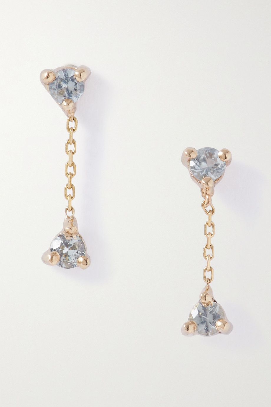 WWAKE Gold sapphire earrings