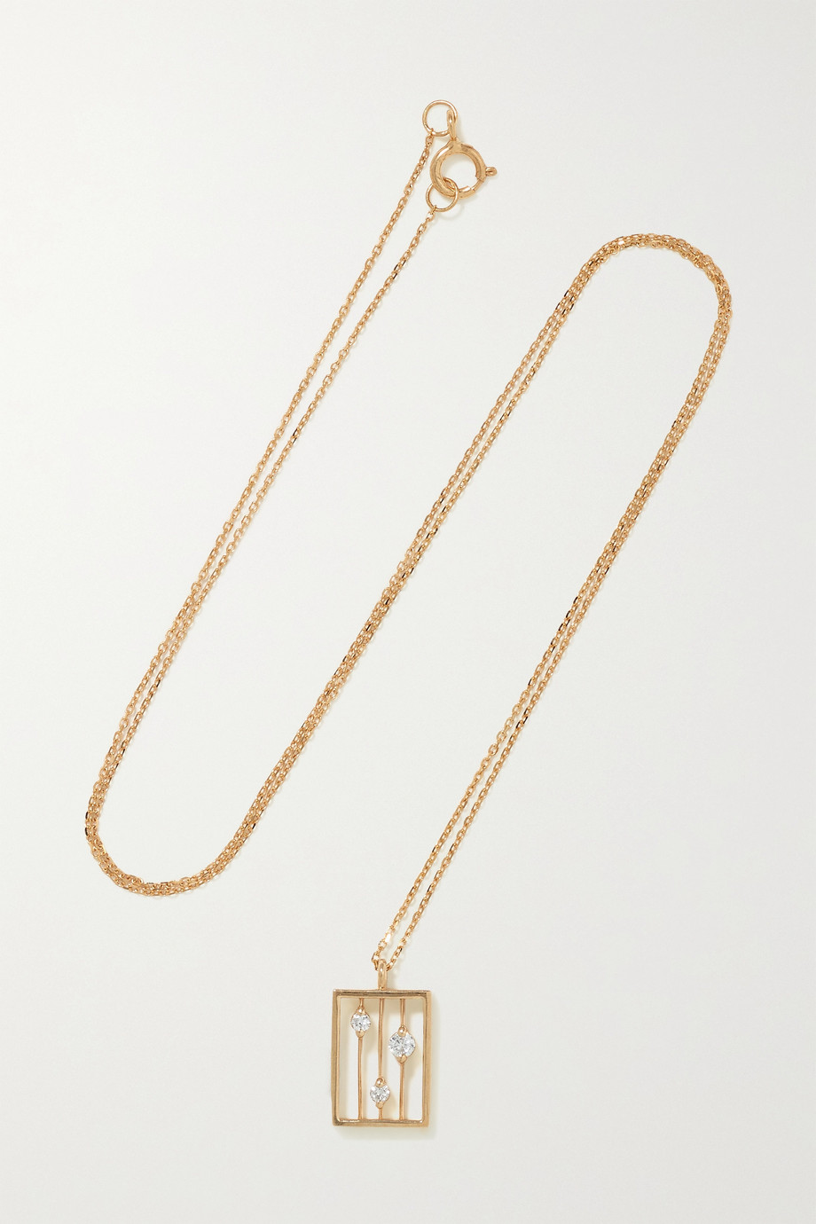 WWAKE Drift gold diamond necklace
