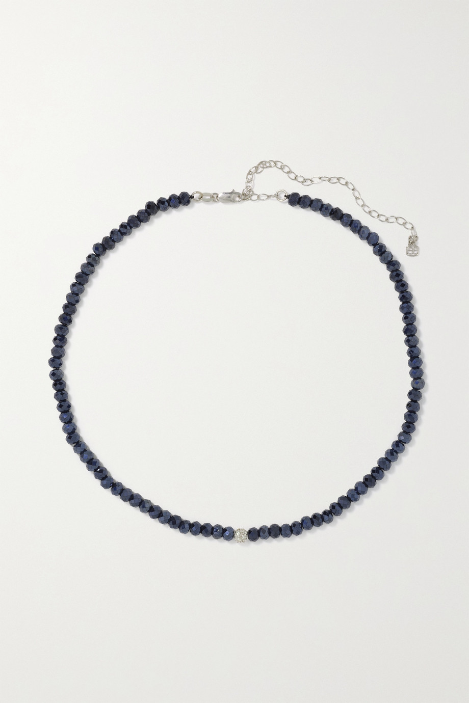 SYDNEY EVAN 14-karat white gold, spinel and diamond choker
